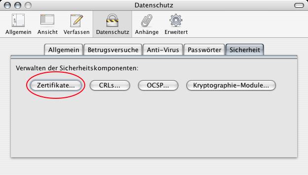 Zertifikate in Thunderbird – apfelwiki.de
